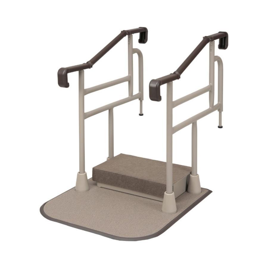 個人宅配達不可 玄関用自在手すり ツインディ / XPN-L80201 両手すり踏み台付 1