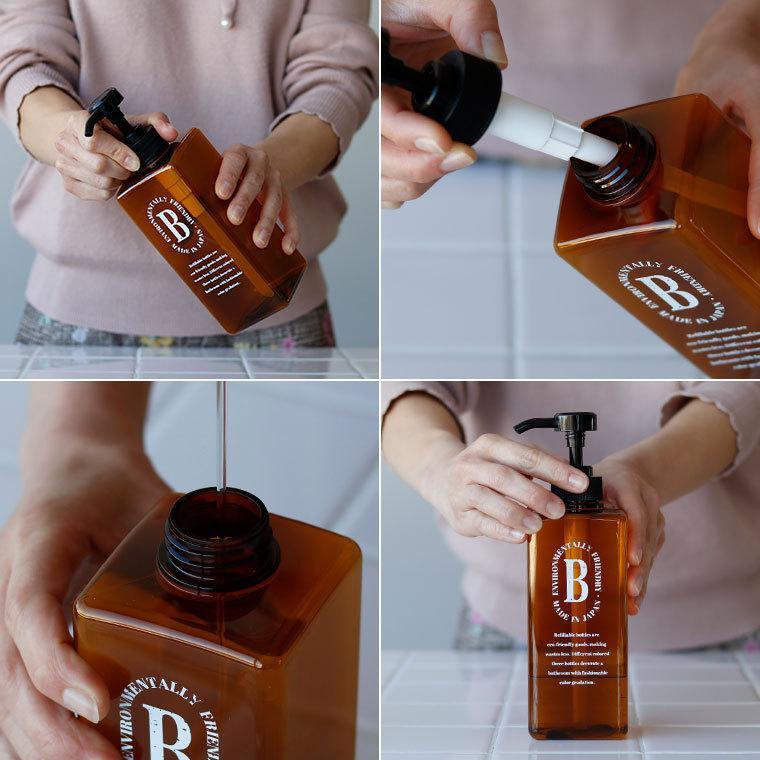 詰め替えボトル 日本製 シャンプーボトル「ペコロ Pecolo」3本セット【ディスペンサー シャンプーボトル おしゃれ セット 詰替えボトル シャンプー 詰め替え】|furo|11