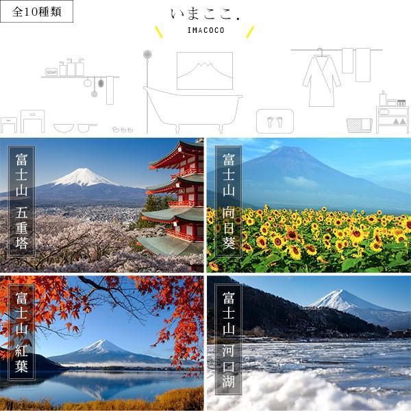 【送料無料】体感型お風呂ポスター「いまここ。(IMACOCO)」マグネット取付けタイプ(Lサイズ)【日本製 おふろポスター 繰り返し使える 富士山 貼り換え自由】 furo 02