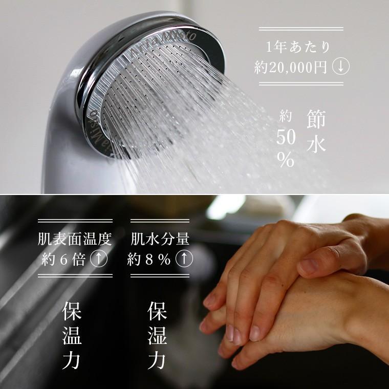 【送料無料】マイクロナノバブル シャワーヘッド「ボリーナ」Bollina【節水 マイクロバブル 節水シャワーヘッド 節水50% 保湿】|furo|06