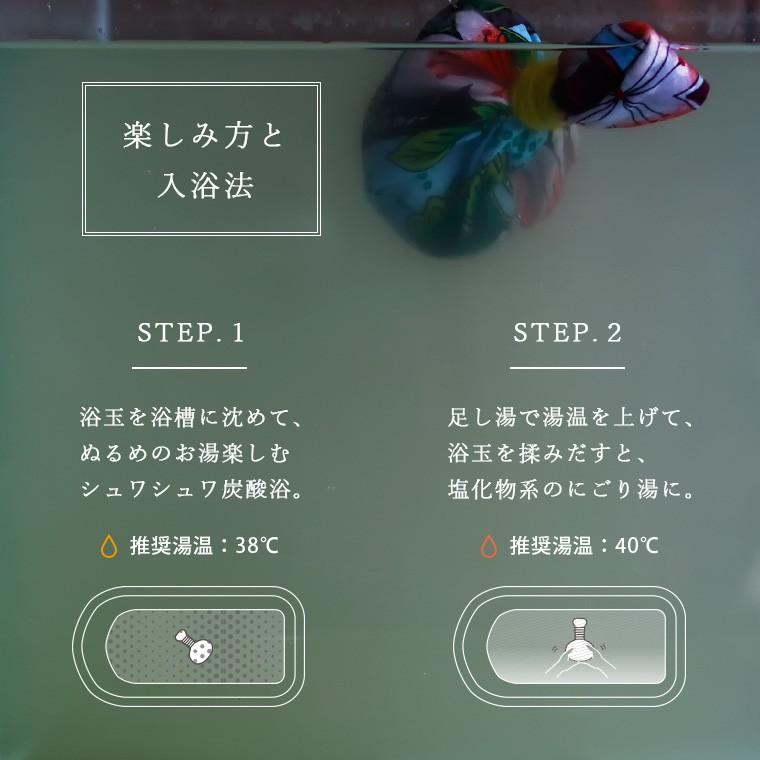 入浴剤「浴玉(Yokudama)Hanabi」ジップバッグ入り(和・華)2個セット【日本製 バスソルト 岩塩 温泉気分 おしゃれ 炭酸 水素 にごり湯 保湿 ギフト 国産】 furo 07