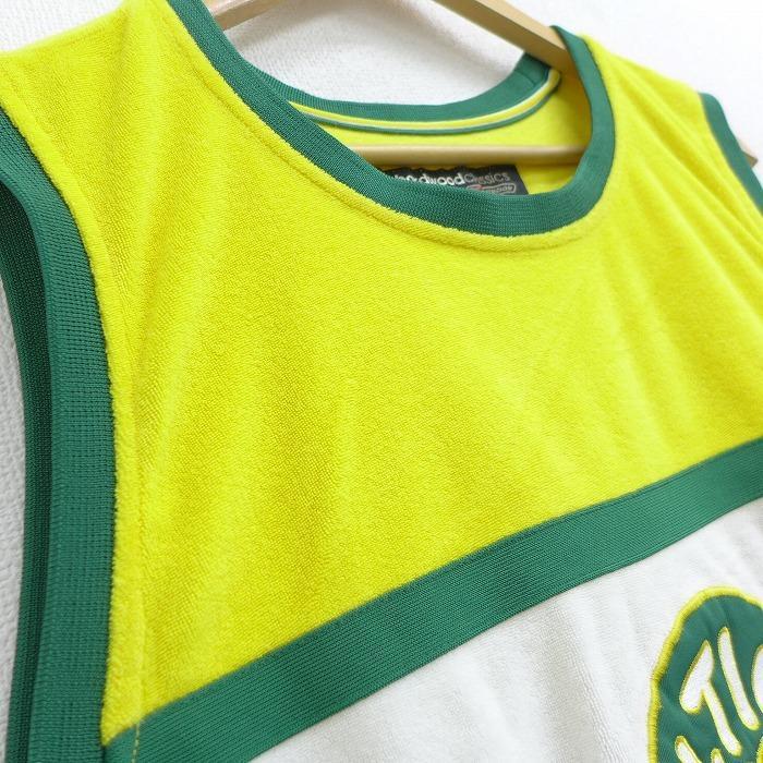 XL/古着 タンクトップ リーボック REEBOK NBA ボストンセルティックス ポールピアス 34 パイル地 大きいサイズ ロング丈 クルーネック 黄他 イエロー バスケット|furugiyarushout|02