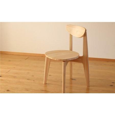 ふるさと納税 【まるい·軽い·かわいらしい】四万十ヒノキの椅子「EINE(エイネ)」(座面無垢板) Ots-05 高知県四万十町