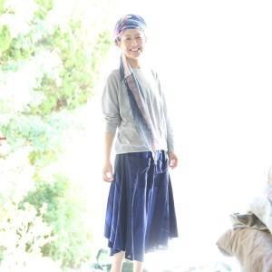 ふるさと納税 81-6【tamaki niime·イッテンモノ】chotan skirt 兵庫県西脇市