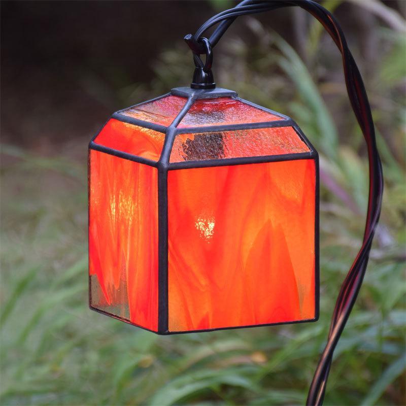 ガーデンライト 吊下げ式 4K-110(吊り金具なし)送料無料 ステンドグラス ガーデンランプ 庭園灯 外灯 外灯 屋外照明 LED電球 対応 洋風 おしゃれ ガーデニング
