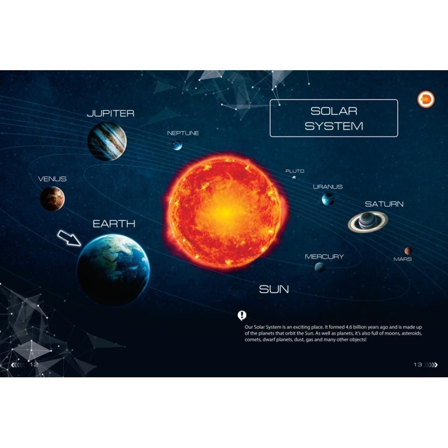 天体観察ができるAR宇宙図鑑「SPACE」 太陽系 惑星 天の川 創造の柱 ブラックホール 子供 大人 英語 リスニング|fushigibooks|06