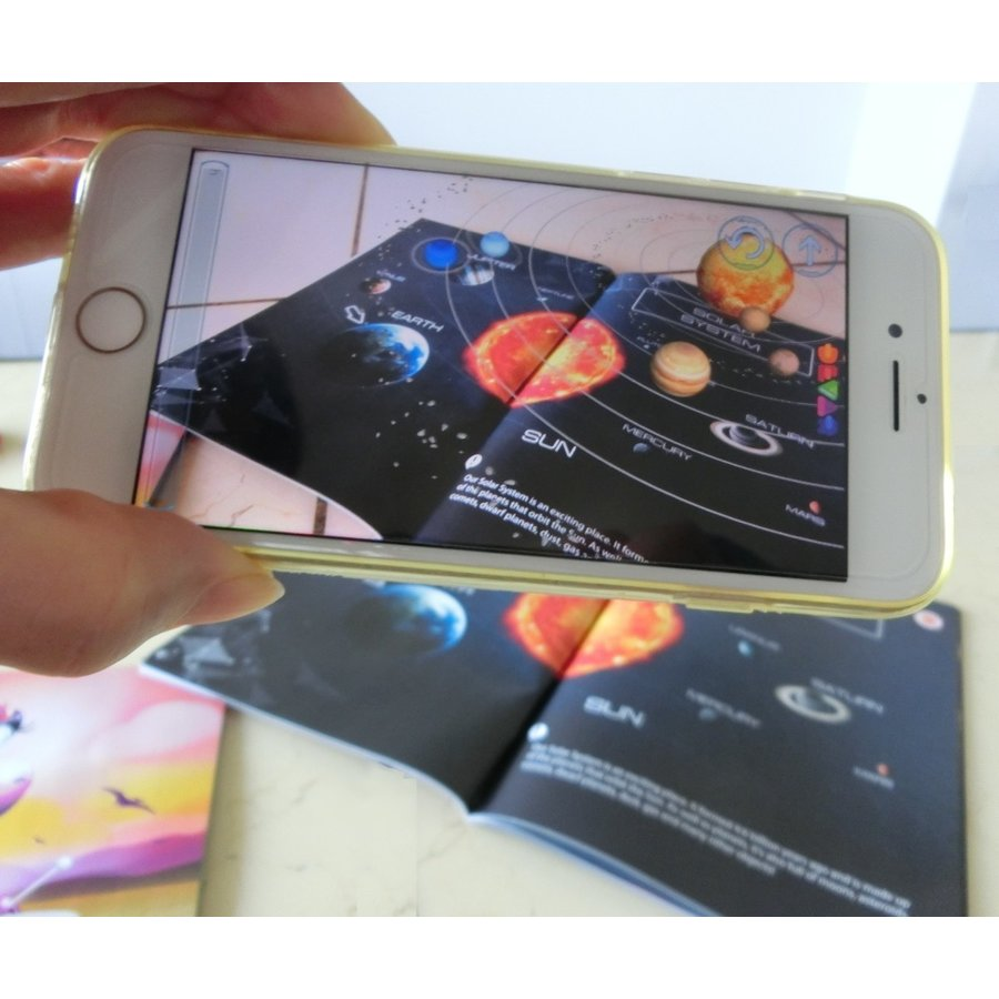 天体観察ができるAR宇宙図鑑「SPACE」 太陽系 惑星 天の川 創造の柱 ブラックホール 子供 大人 英語 リスニング|fushigibooks|07