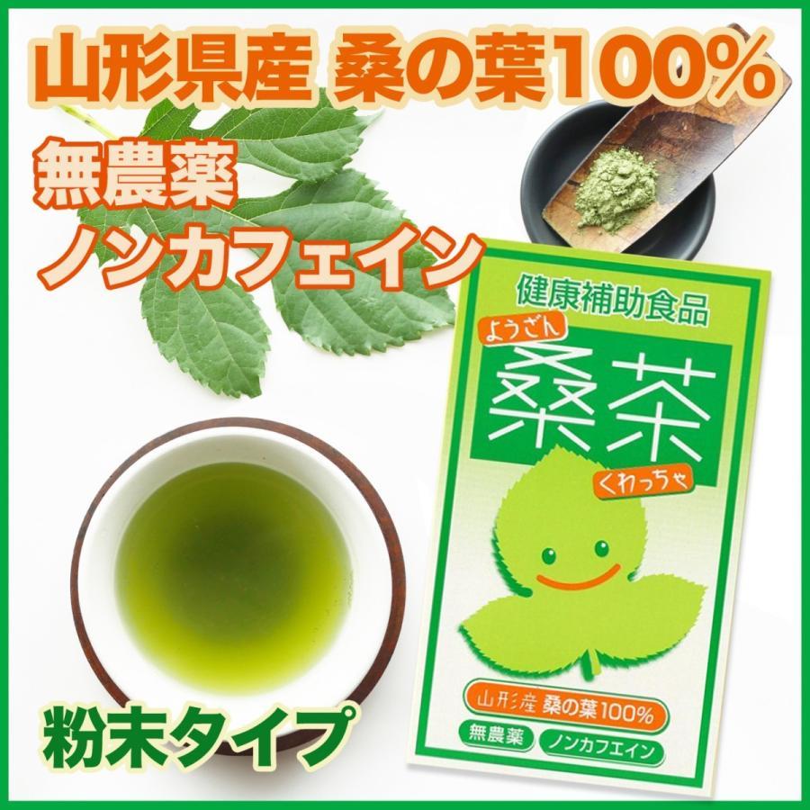 健康桑茶 国産 無農薬 山形県産100% 粉末 パウダー ノンカフェイン 50g fushikian
