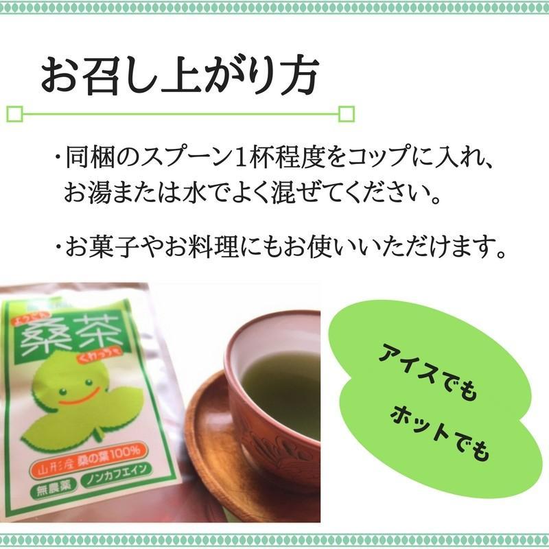 健康桑茶 国産 無農薬 山形県産100% 粉末 パウダー ノンカフェイン 50g fushikian 02
