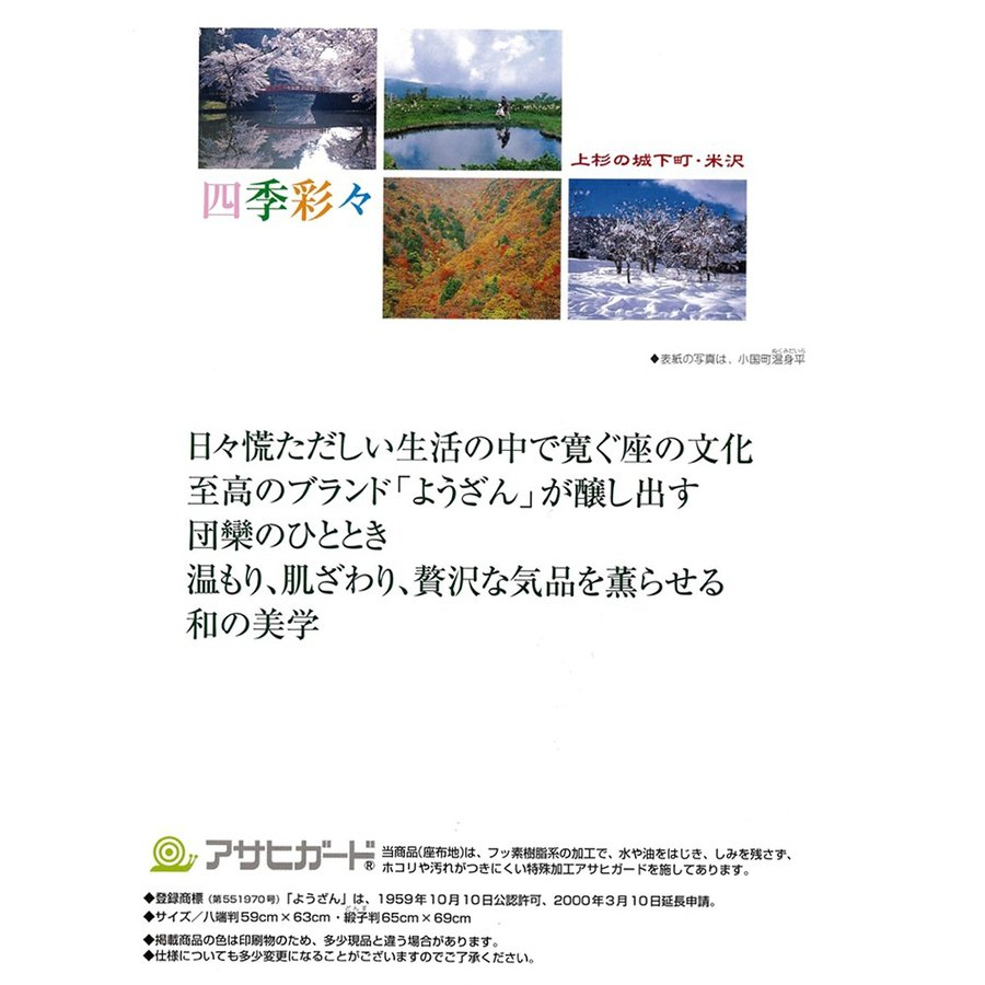 米沢織「渚(夏用)」座布団カバー (5枚組) fushikian 04
