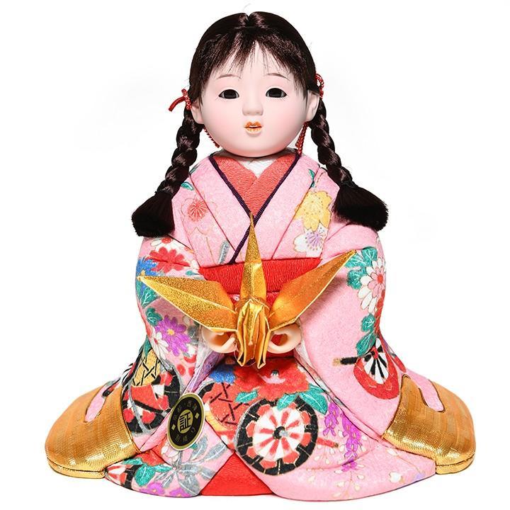【木目込市松人形】【座り市松】6号座り木目込市松人形:京都西陣織:芳俊作【雛人形】【浮世人形】【ひな人形】