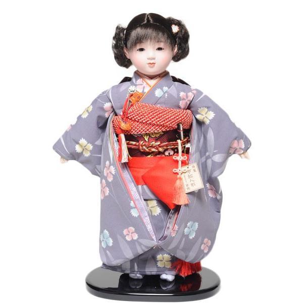 【ひな人形】【市松人形】市松人形13号市松人形:京友禅衣装【カール】:翠華作【木目込市松人形】【浮世人形】