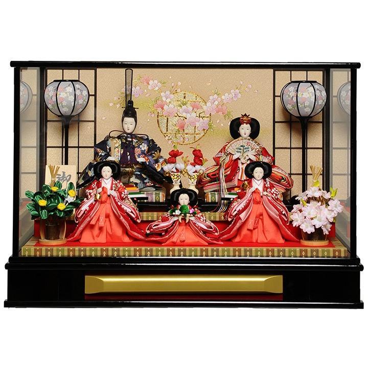 【ひなケース】大三五親王五人ケース:伏見屋監修:木目ケース【雛人形】【ひな人形】
