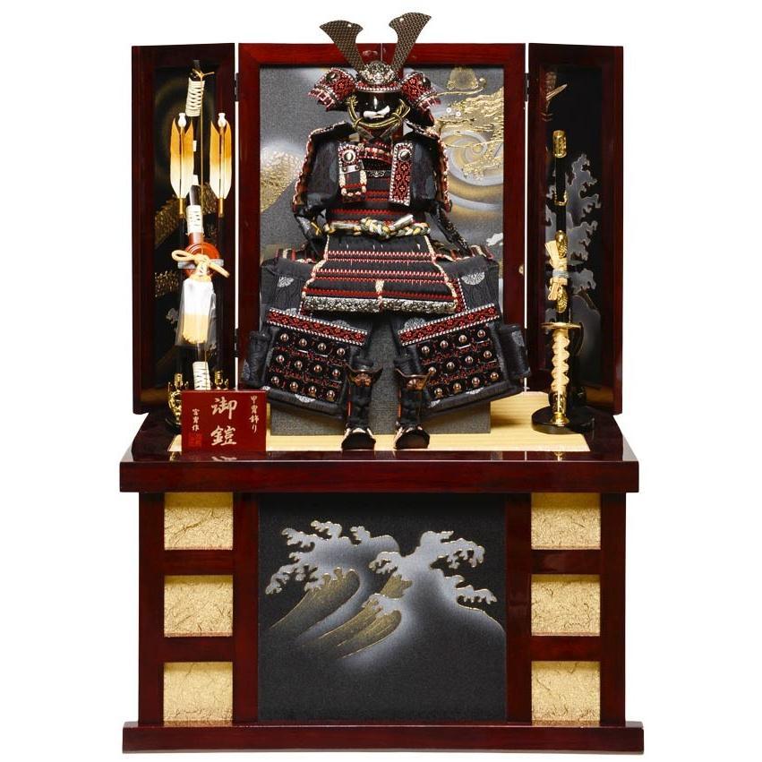 【コンパクト収納鎧】【鎧飾り】6号ブロンズ陣鎧収納飾:宮冑作【五月人形】