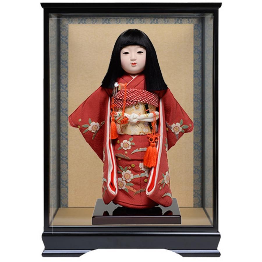 市松人形10号市松:正絹京染手縫い衣裳:元賀章介作:ケース入