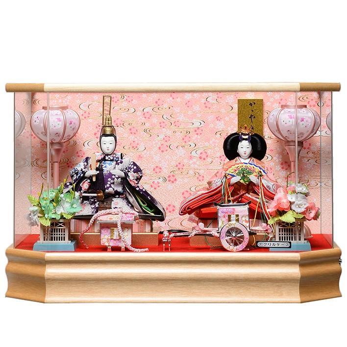 【雛ケース】芥子親王ケース:パノラマアクリルケース:藤翁作【雛人形】【親王飾】
