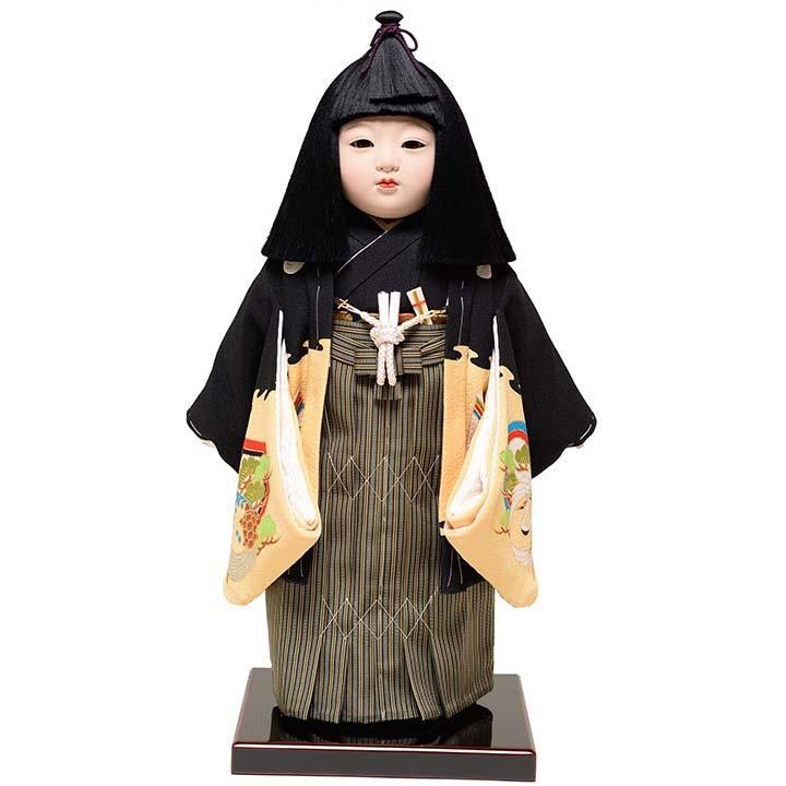 11号男市松人形:正絹別染手縫衣裳:元賀 章介作
