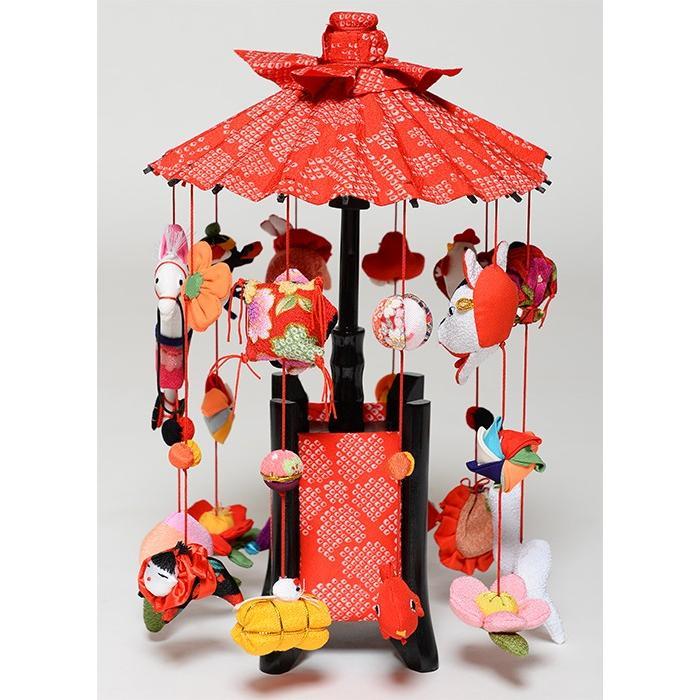 【つるし飾】【傘福かざり】つるし雛縁起の傘つるし小「雅」【吊るし雛】【雛人形】