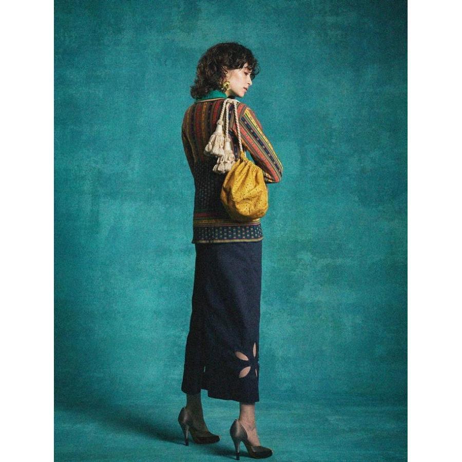 タイムセール 77circa circa make petal embroidery trousers skirt / 花びら型抜き 刺繍 スカート|fusion