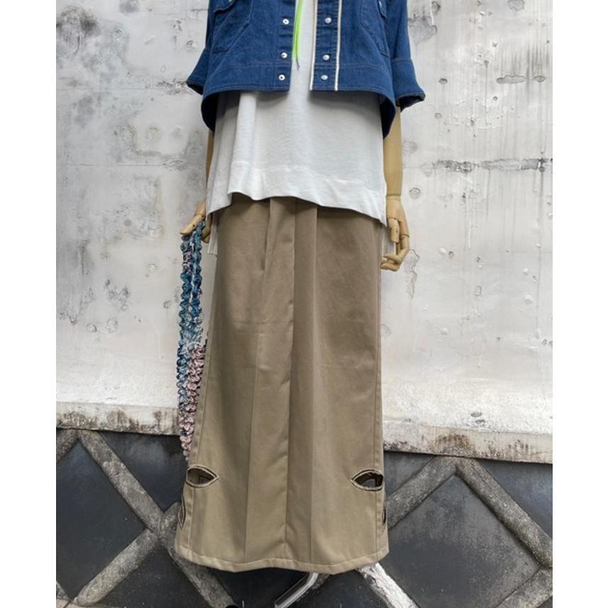 タイムセール 77circa circa make petal embroidery trousers skirt / 花びら型抜き 刺繍 スカート|fusion|11