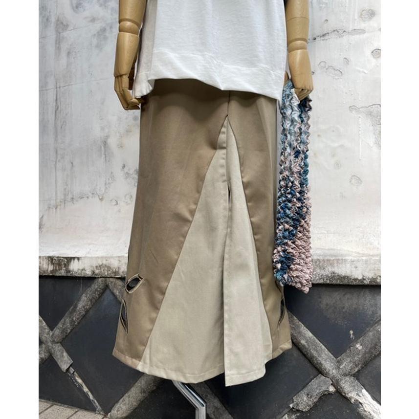 タイムセール 77circa circa make petal embroidery trousers skirt / 花びら型抜き 刺繍 スカート|fusion|13