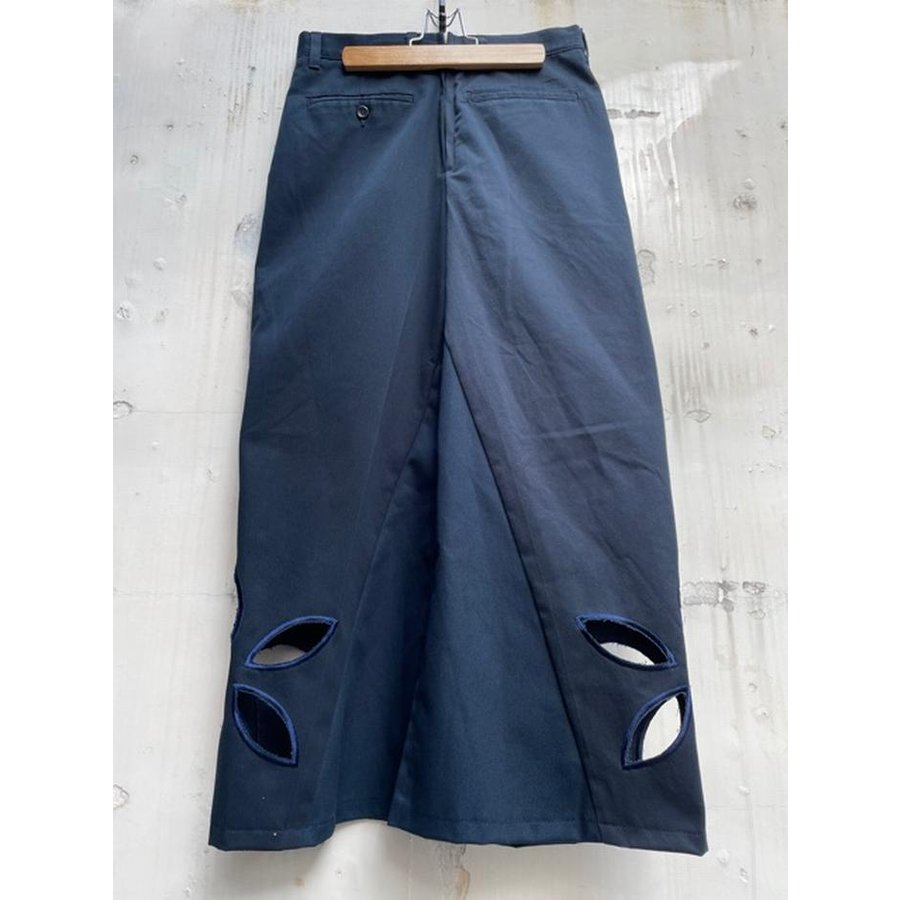 タイムセール 77circa circa make petal embroidery trousers skirt / 花びら型抜き 刺繍 スカート|fusion|08