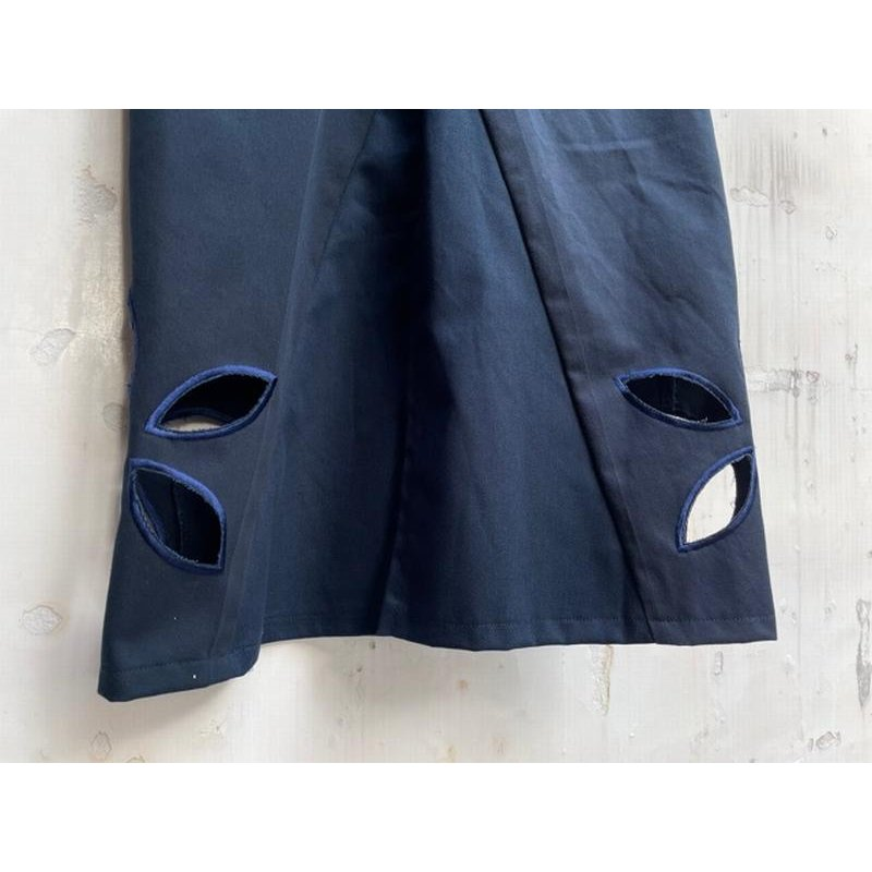 タイムセール 77circa circa make petal embroidery trousers skirt / 花びら型抜き 刺繍 スカート|fusion|10