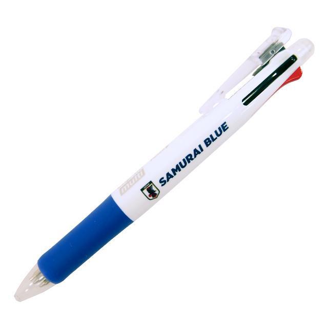 ネコポス選択可 サッカー 日本代表 4色ボールペン+シャープペン アイテム勢ぞろい O-261 黒 赤 シャープペン 緑 サポーターグッズ AL完売しました。 サムライブルー 文房具 青