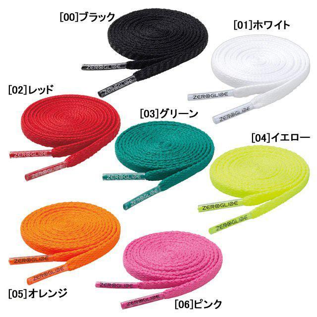 ネコポス選択可 ミズノ MIZUNO ゼログライド シューレース 靴ひも フットサル スポーツ サッカー 4mm P1GZ2021 蔵 新発売 平型