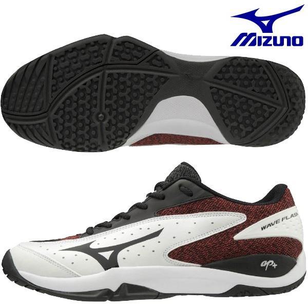 ミズノ MIZUNO ウエーブフラッシュ ワイド OC WAVE FLASH WIDE OC 61GB191301 メンズ レディース ユニセックス テニスシューズ クレー・砂入り人工芝コート