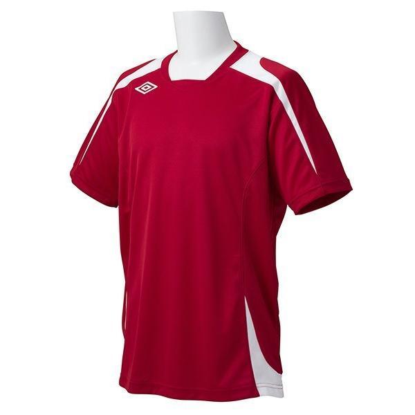 アンブロ UMBRO サッカー プラクティスシャツ ジュニア JR S/Sゲームシャツ UAS6301J M赤 Z