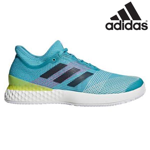 アディダス adidas テニスシューズ ウーバーソニック3 マルチコート F36721 メンズ オールコート用 ハード・オムニ・クレーコート用 水色