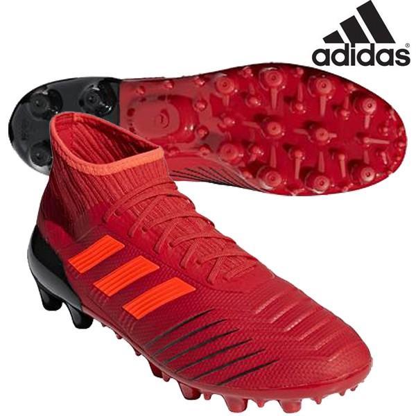 【セール】アディダス adidas プレデター 19.2 HG/AG F97364 サッカー スパイク 土グランド 人工芝用 アクティブレッドS19×ソーラーレッド 赤 特価