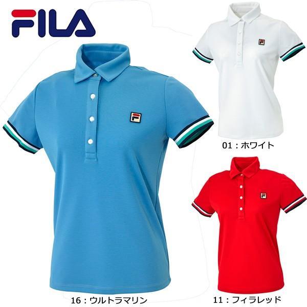 フィラ FILA ポロシャツ VL1390 テニス ウィメンズ レディース 半袖