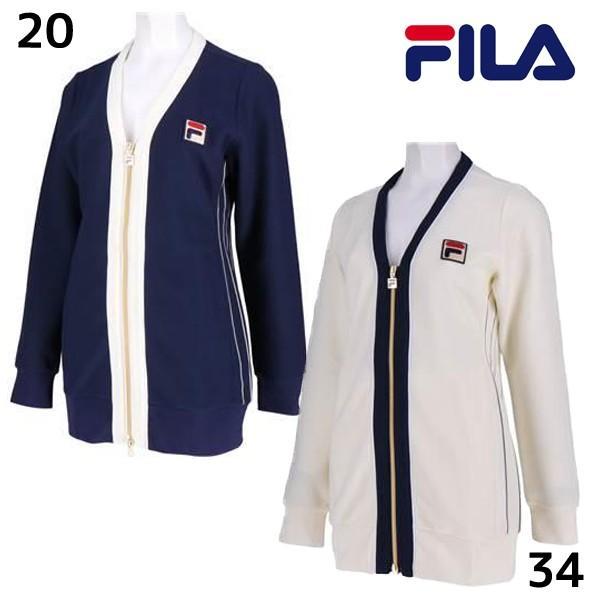 フィラ FILA レディース ロングカーディガン VL1843 レディース テニスウェア 女性 ウィメンズ