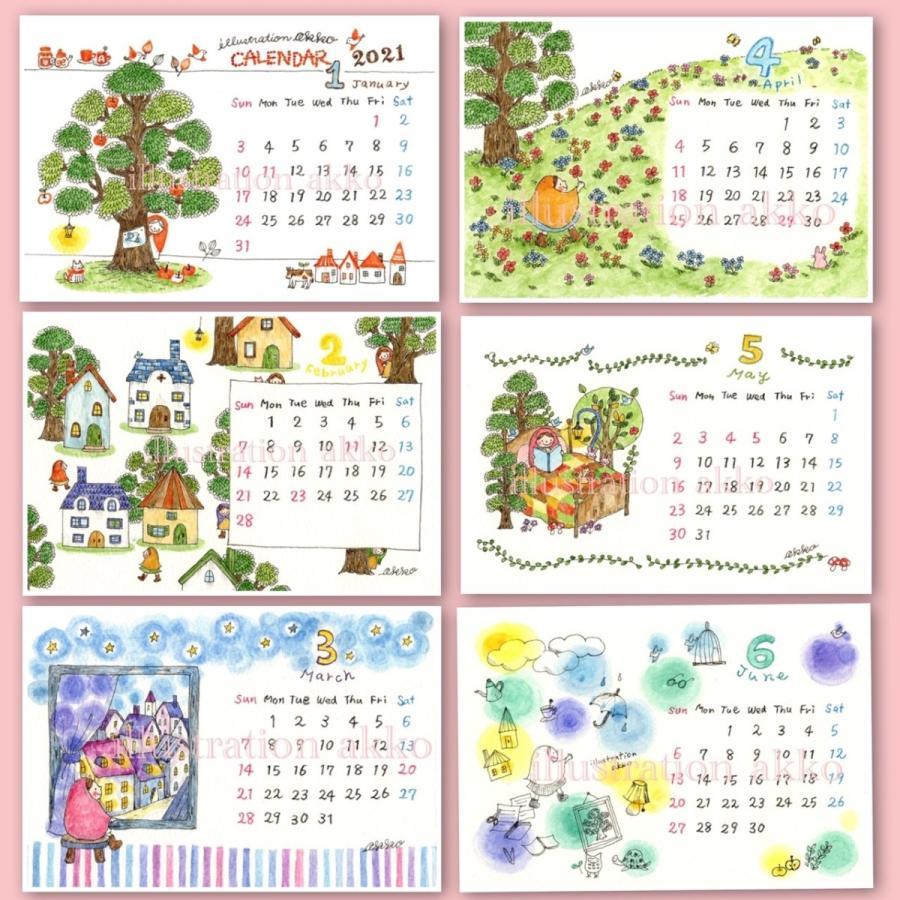 illustration akko 2021 カレンダー|futagochan|03