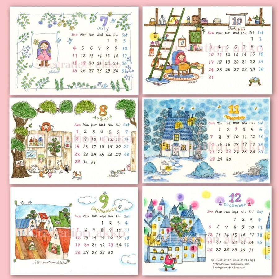 illustration akko 2021 カレンダー|futagochan|04
