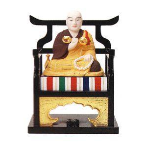 仏像 仏具 弘法大師 1.8 木製彩色