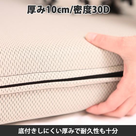(90日返品保証あり)高反発マットレス エイプマンパッド310(シングル)ミッドグレー futon-king 03