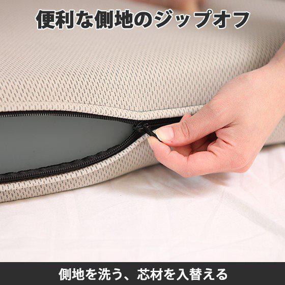 (90日返品保証あり)高反発マットレス エイプマンパッド310(シングル)ミッドグレー futon-king 05