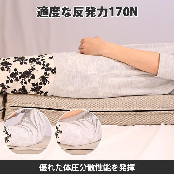 高反発マットレス エイプマンパッド310(シングル)ミッドグレー futon-king 06