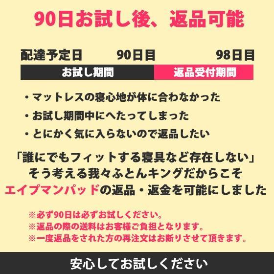 (90日返品保証あり) 高反発マットレス エイプマンパッド307(シングル)ミッドブルー futon-king 07