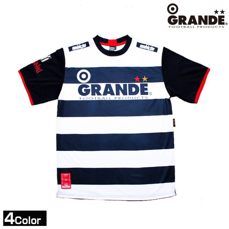 GRANDE/グランデ ボーダープラクティスシャツ半袖 (GFPH12003)