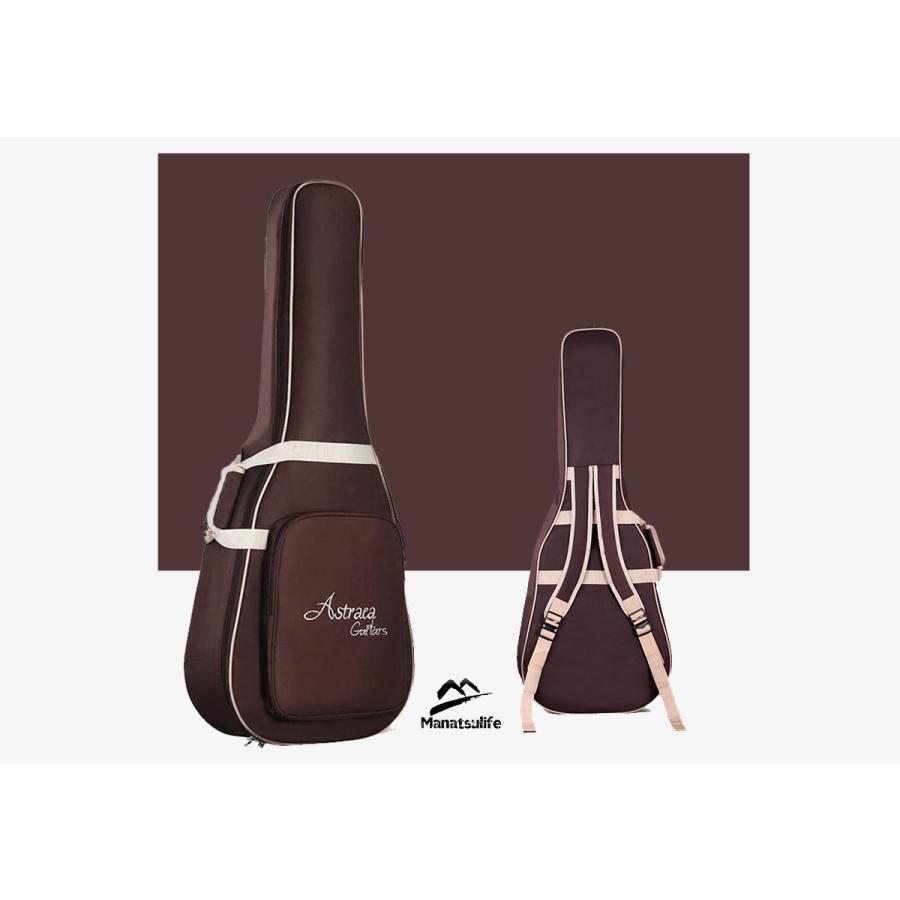 MANATSULIFE ギターケース ギグバッグ アコースティックギター 41インチ クッション付き 2WAY リュック型 手提げ ブラウン 黒 グレー 送料無料|futurelife