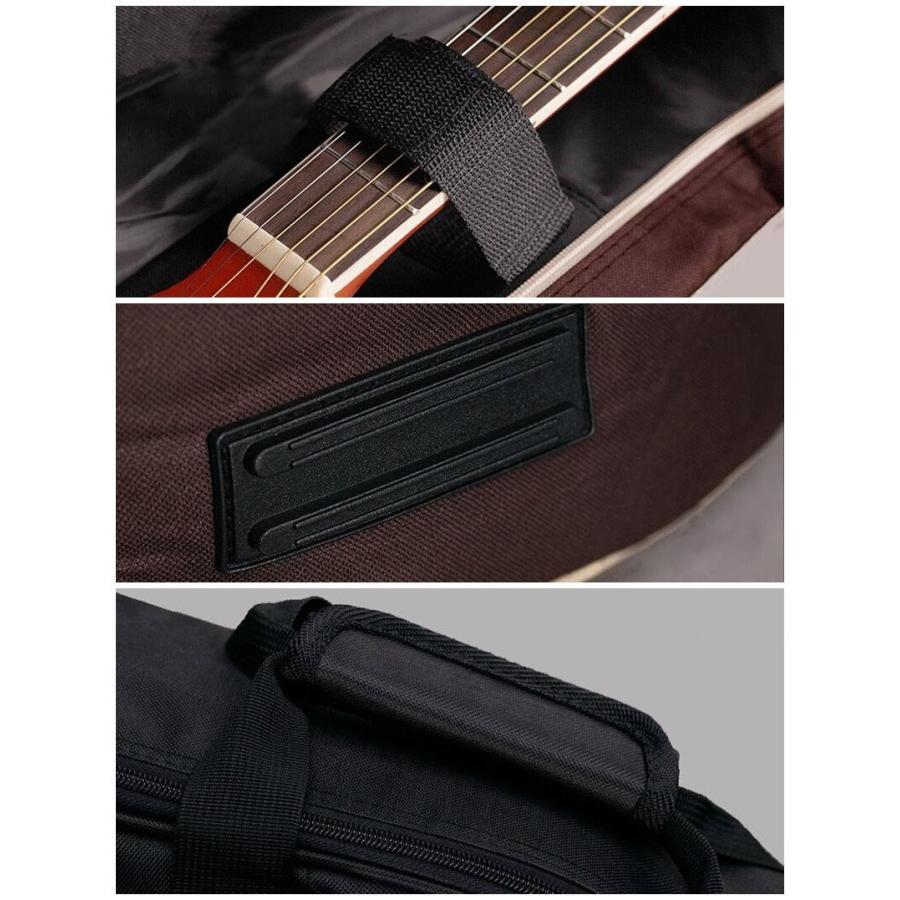 MANATSULIFE ギターケース ギグバッグ アコースティックギター 41インチ クッション付き 2WAY リュック型 手提げ ブラウン 黒 グレー 送料無料|futurelife|06