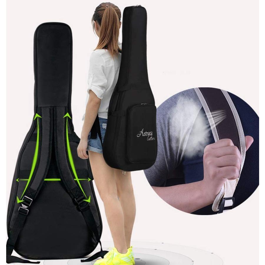 MANATSULIFE ギターケース ギグバッグ アコースティックギター 41インチ クッション付き 2WAY リュック型 手提げ ブラウン 黒 グレー 送料無料|futurelife|09