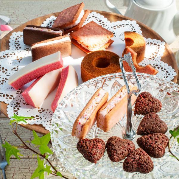苺のスイーツギフトセットMサイズ 母の日 2021(ミルクバウム サンドクッキー クランチチョコ) あまおう スイーツ ギフト  宅急便発送 内祝 Agift|fuubian|08
