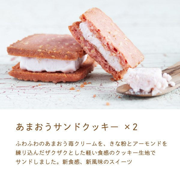 苺のスイーツギフトセットMサイズ 母の日 2021(ミルクバウム サンドクッキー クランチチョコ) あまおう スイーツ ギフト  宅急便発送 内祝 Agift|fuubian|05