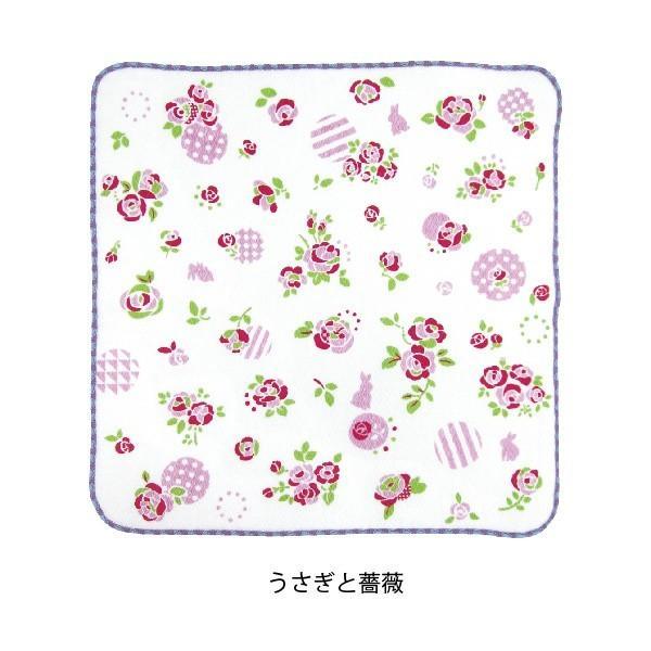 タオル ハンカチ 消臭 清潔 女子 日本製 綿100% かわいい 乙女の可憐なハンカチ|fuzei-kyoto|05