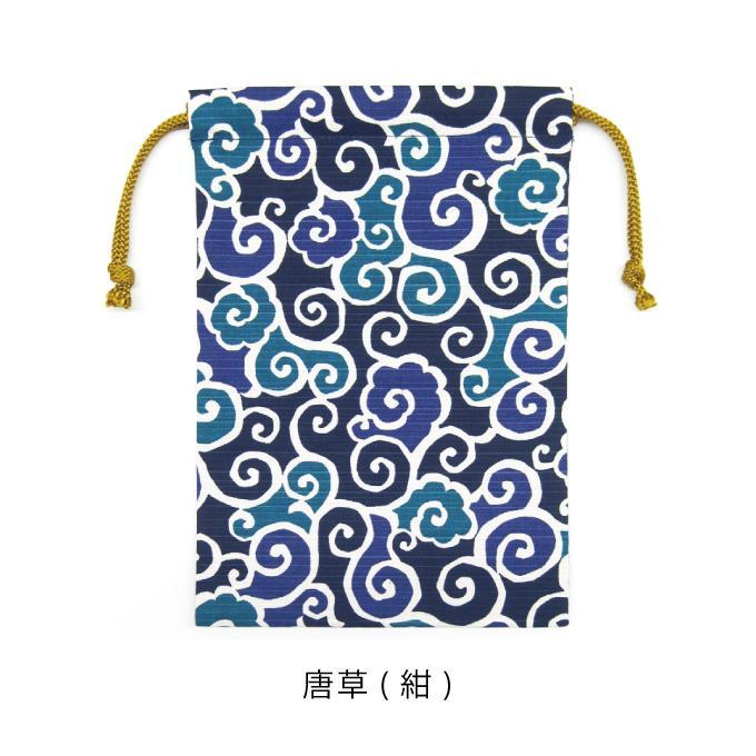 巾着袋 御朱印帳入れ シャンタン 和柄 モダン 千鳥 唐草 シャンタン巾着|fuzei-kyoto|06